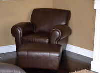 Armchair with matching ottoman
