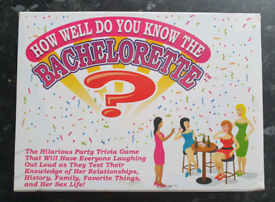 How Well Do You Know The Bachelorette Trivia Bridal Shower Card Game
