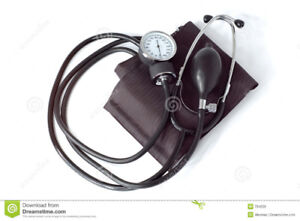 MANUAL BLOOD PRESSURE MONITOR WITH STETHOSCOPE (VGC)