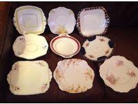 20 vintage china sandwich plates