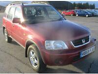 Honda CR-V 2.0 sr a/c ES 4X4. GUARANTEED FINANCE AVAILABLE ON NEWER CARS.