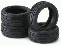 TYRES PART WORN 6MM FREE FITTING 205 55 16 195 65 15 185 55 16