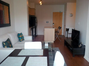 August 16: Furnished downtown 1 Bed+Den at Maple Leaf Sq, Union