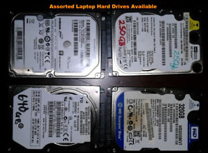 Assorted Laptop Hard Drives