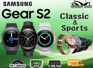 AS NEW SAMSUNG GALAXY GEAR S2 SPORTS & CLASS SMART WATCH UNLOCKED Sydney Region Preview