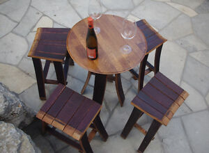 Wine Barrel Table & Stools