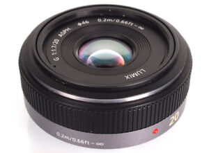 Panasonic 20mm f/1.7 for Micro Four Thirds