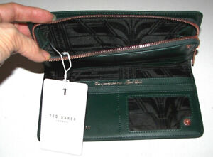 4bd64cc3c TED BAKER LONDON Fenelle Textured Matinee Leather Wallet - NWT