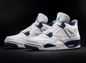 AIR JORDAN 4 COLUMBIA WHITE/LIGHT BLUE SZ 9.5 BRAND NEW IN BOX