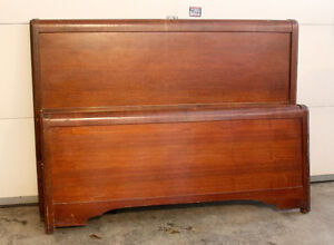 VINTAGE DBL HEAD/FOOTBOARDS WITH RAILS