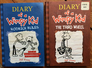 Hardcover - DIARY OF A WIMPY KID books 2 for $10