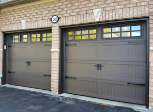 CARRIAGE GARAGE DOORS.....   $900 INSTALLED