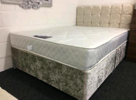 LOW PRICED DIVAN bed set with luxury mattress and FREE DELIVERY