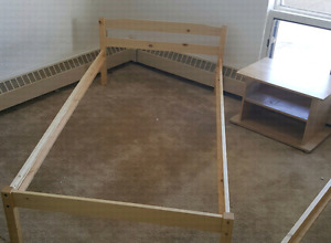 Single pine bed frame (with slats) $50.