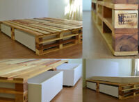 *FOUND* Carpentry/woodworking services (pallet style bed frame)
