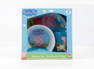 Brand new Peppa Pig Melamine Set 2 Plates and 1 Tumbler