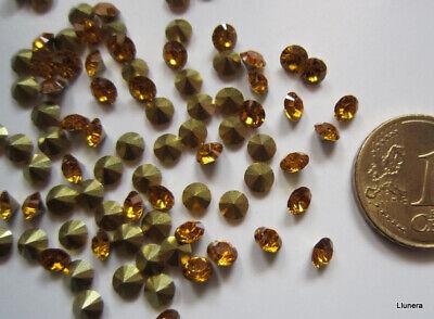 Cristal facetado diamante 4 mm dorado intenso X 60 UNIDADES acrílico para...