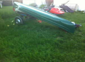 17' Viking canoe and trailer