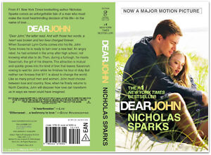 book: Dear John by Nicholas Sparks: like NEW condition Cambridge Kitchener Area image 1