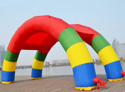 Discount Twin Arches 26ft*13ft D=8M/26ft Inflatable Rainbow Arch