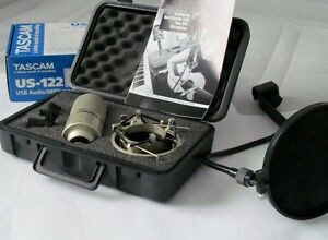 MXL-900-Microphone,-TASCAM-US-122 / Mic/stand/Pop Filter-6''