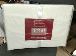 1000 thread count queen bed sheets. -new-