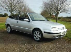 2001 VOLKSWAGEN GOLF 2.0 CONVERTIBLE ~ 1 LADY OWNER ~ LOW MILES ~ MINT CONDITION