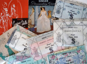 SEWING DRESSMAKING BOOKS SINGER McCALL BUTTERICK 1940's