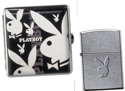 Bunny Stamp PLAYBOY-ZIPPO mit Prägung + CHAMP Zigarettenetui neu+ovp  Zippo Zigarettenetui Mit Feuerzeug