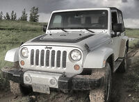 Jeep Wrangler Grille Inset with Grab Handles