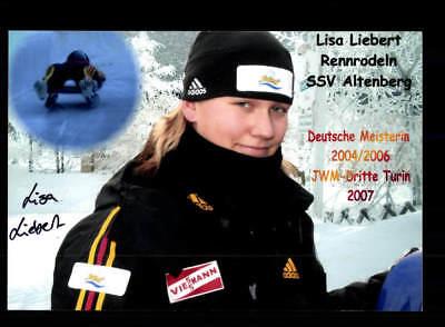 Lisa Liebert Original Signiert Rodeln + A 168207