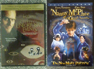 Nanny McPhee & A Series of Unfortunate Events The Movie DVD's