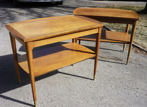 Deux tables scandinaves teck teak  noyer...
