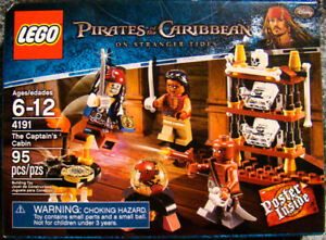 LEGO 4191 PIRATES OF THE CARIBBEAN THE CAPTAIN'S CABIN & POSTER for sale  Edmonton