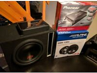 "12"" Alpine Sub/amp/box/wiring kit 3000wpeak/1000rms"