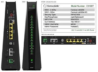 Technicolor C2100t Prism Tv 802 11Ac Modem Router  Dsl  Century Link Approved