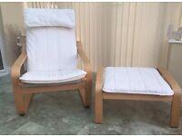 Ikea Poang nursing chair & stool