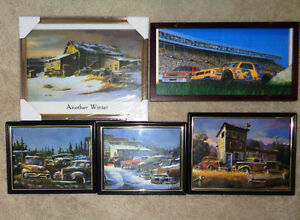 Tow Truck Wrecking Yard Gas Pumps Framed Pictures Coors Wrangler