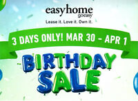 Easyhome's BIGGEST sale of the year!