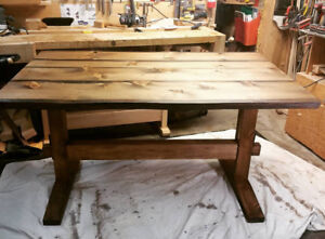 NEW! Custom Stained Pine Dining Table