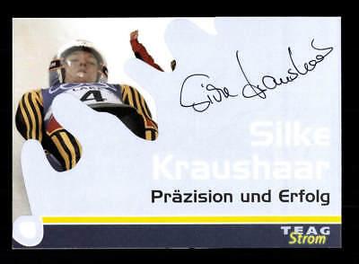 Silke Kraushaar Autogrammkarte Original Signiert Rodeln + A 168219
