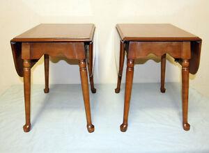 Excellent Villas Maple Dropleasf Side tables SEE VIDEO