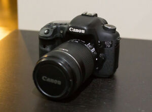 Canon 7D w/ 18-135mm f/3.5-5.6 lens and accessories
