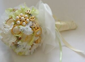 JEWELLED WEDDING BOUQUET, one-of-a-kind - WILL PERSONALIZE Belleville Belleville Area image 4