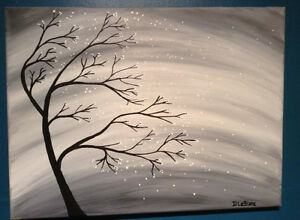 Painting for Sale - Dreamy Tree in the Wind