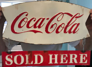 RETRO VINTAGE LOOKING COCA COLA SIGNS NEW