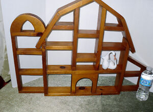 Hand Crafted Wooden BARN shelf