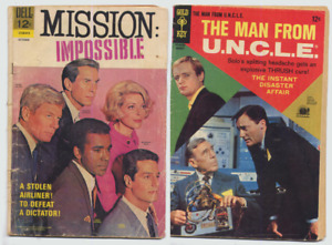 2 COMICS 1968 * MISSION IMPOSSIBLE & THE MAN FROM U.N.C.L.E.