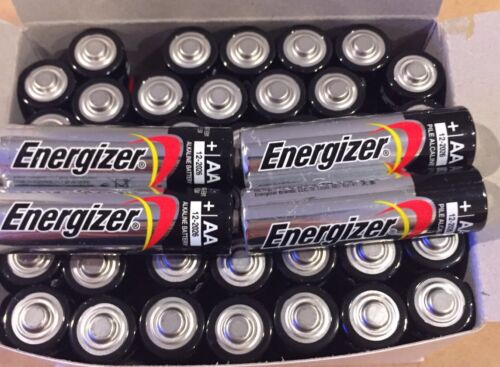40 Pack Energizer AA Max Alkaline E91 Batteries Made in USA Expire: 12/2026