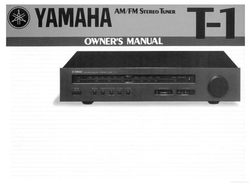 Yamaha T-1 Tuner Owners Manual